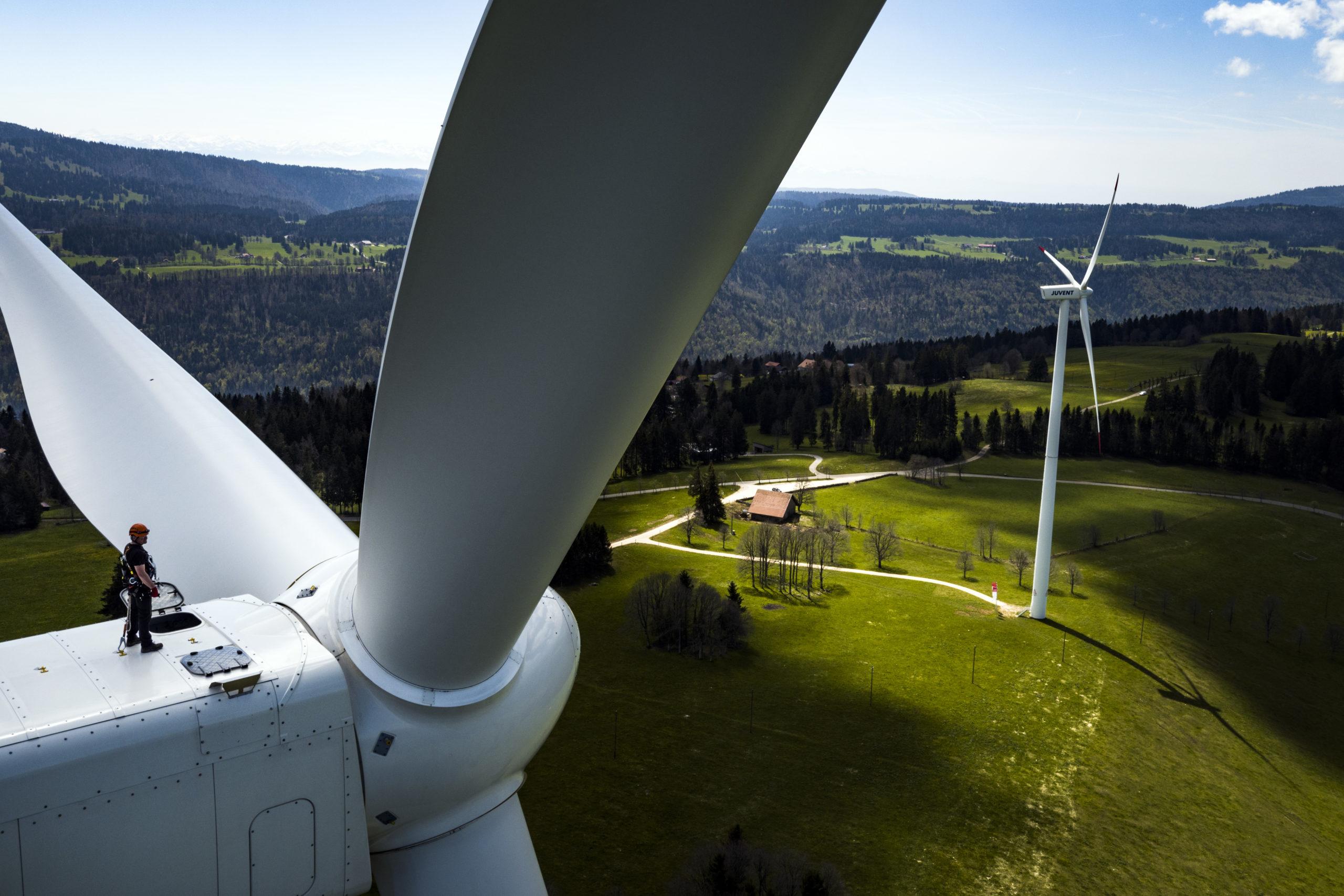 Vent favorable pour les éoliennes du Mollendruz