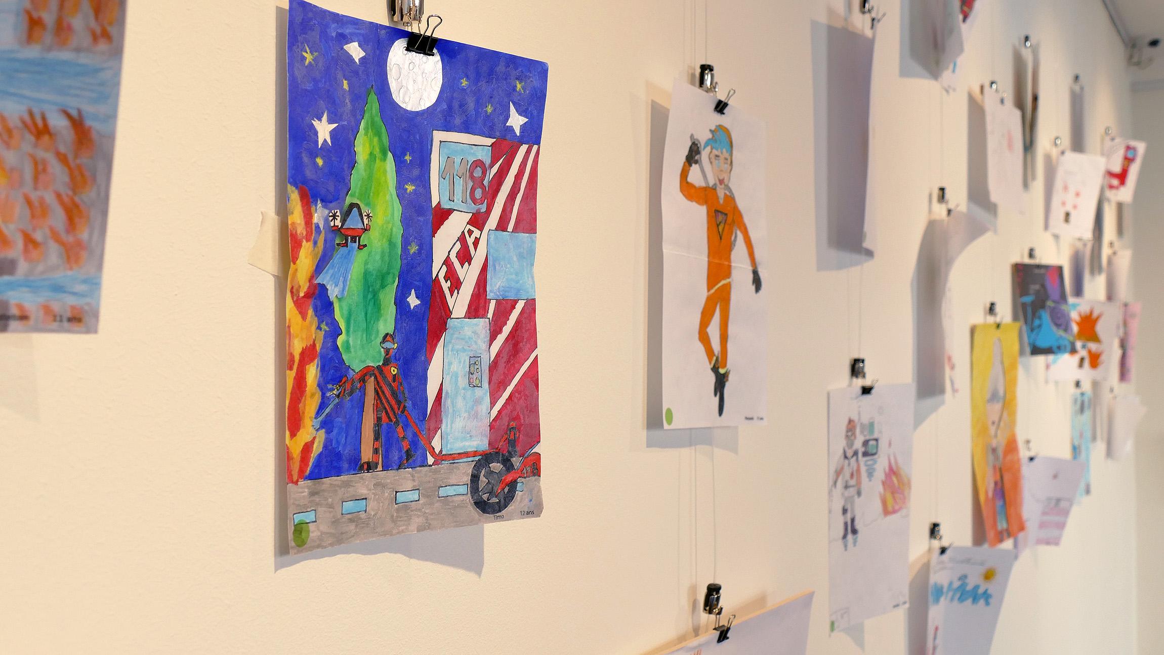 Les enfants imaginent le pompier du futur