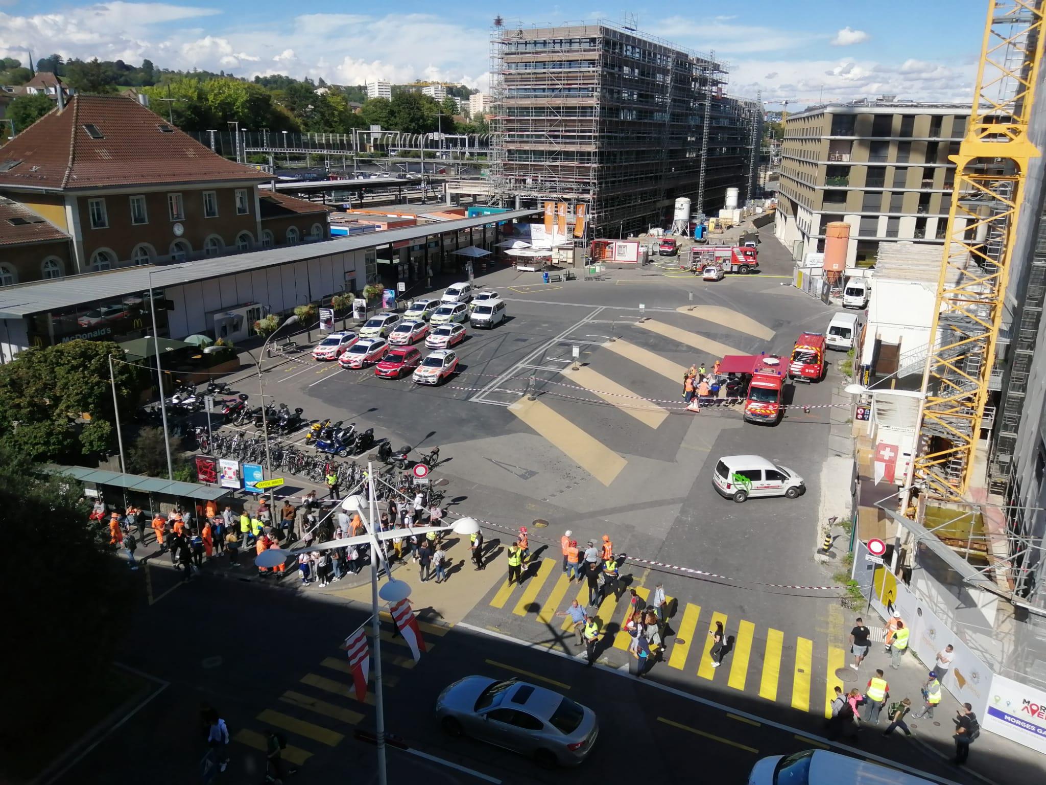 Une fuite de gaz a fait évacuer la gare de Morges