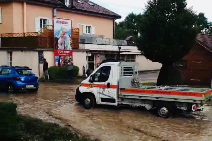 Inondations de retour à Cossonay et La Chaux