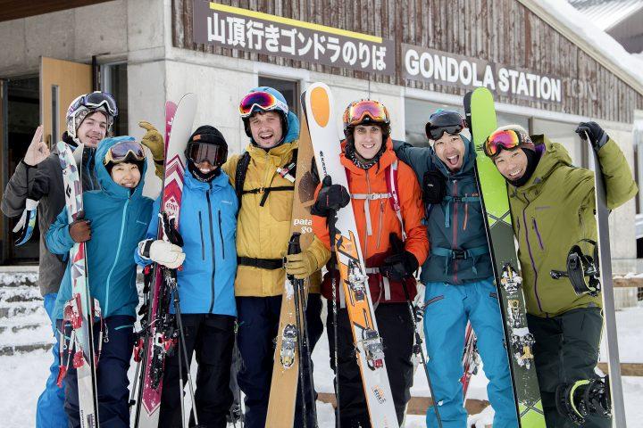 Ils font un film d'animation à ski