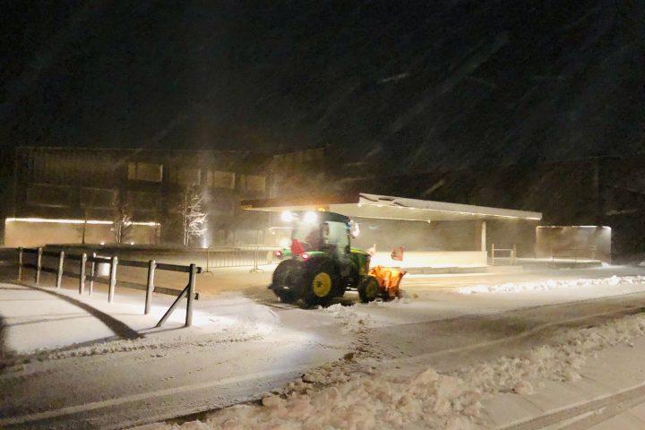La neige donne congé aux élèves du Pied