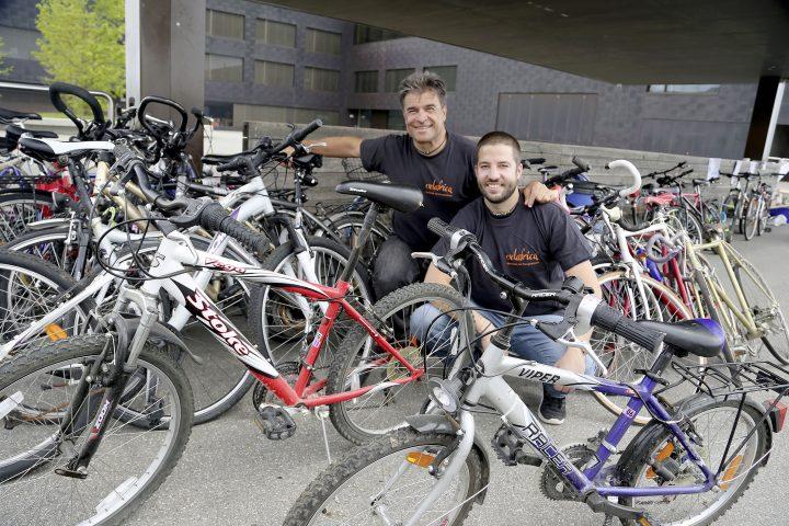 Des vélos récoltés par dizaines