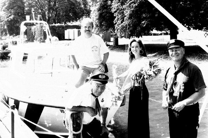 Valérie Bovard baptise le «Basuges» du Sauvetage