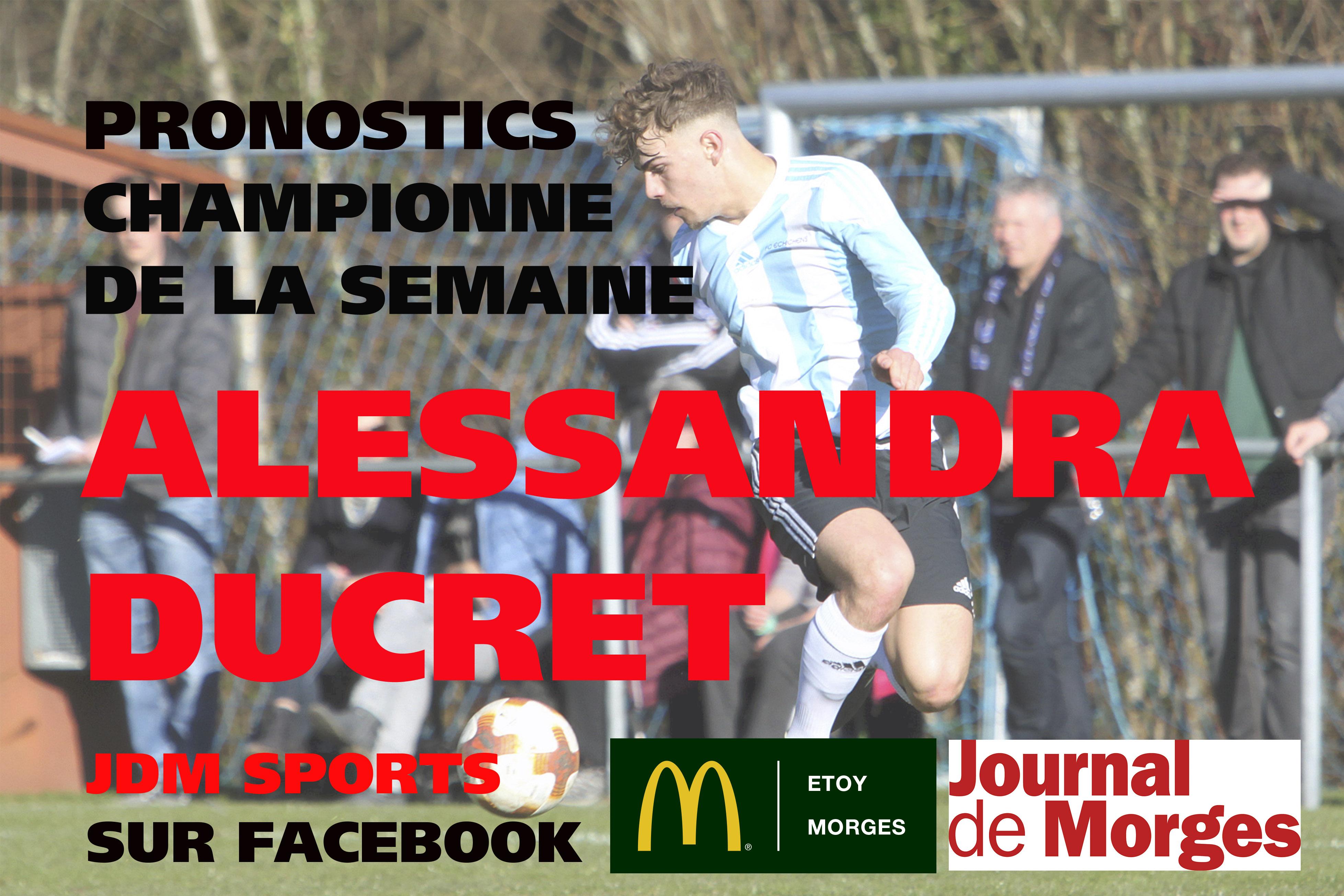 La surprise Alessandra Ducret!