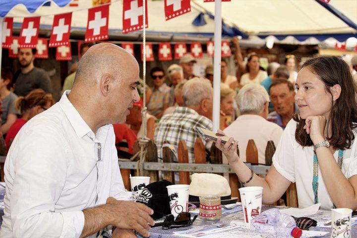 Le président suisse se met à table