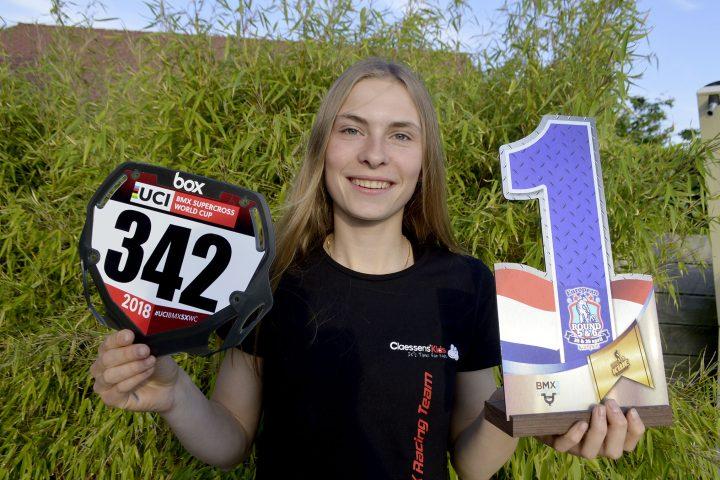 Elle vise le titre mondial en BMX