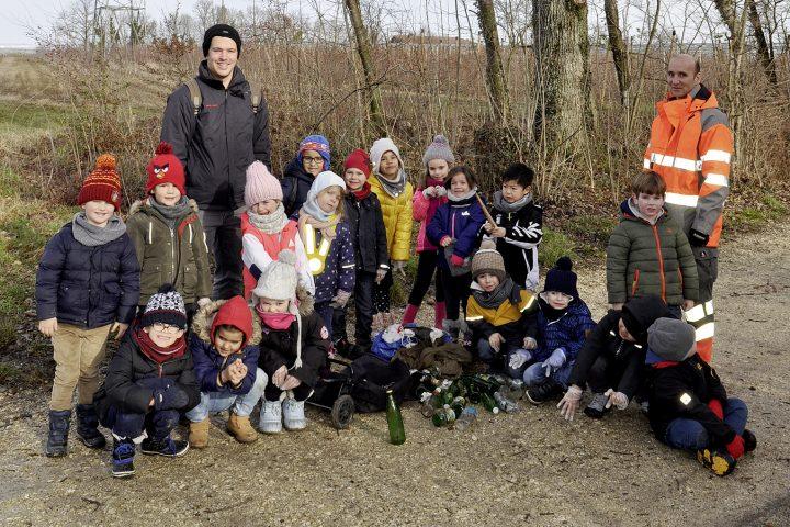 Des classes enfantines traquent les déchets