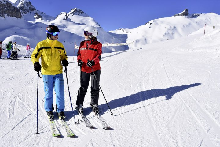 Sur ses skis, elle fait cadeau de sa vue