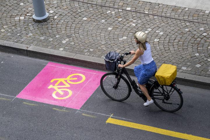 De nouvelles bandes cyclables à Morges