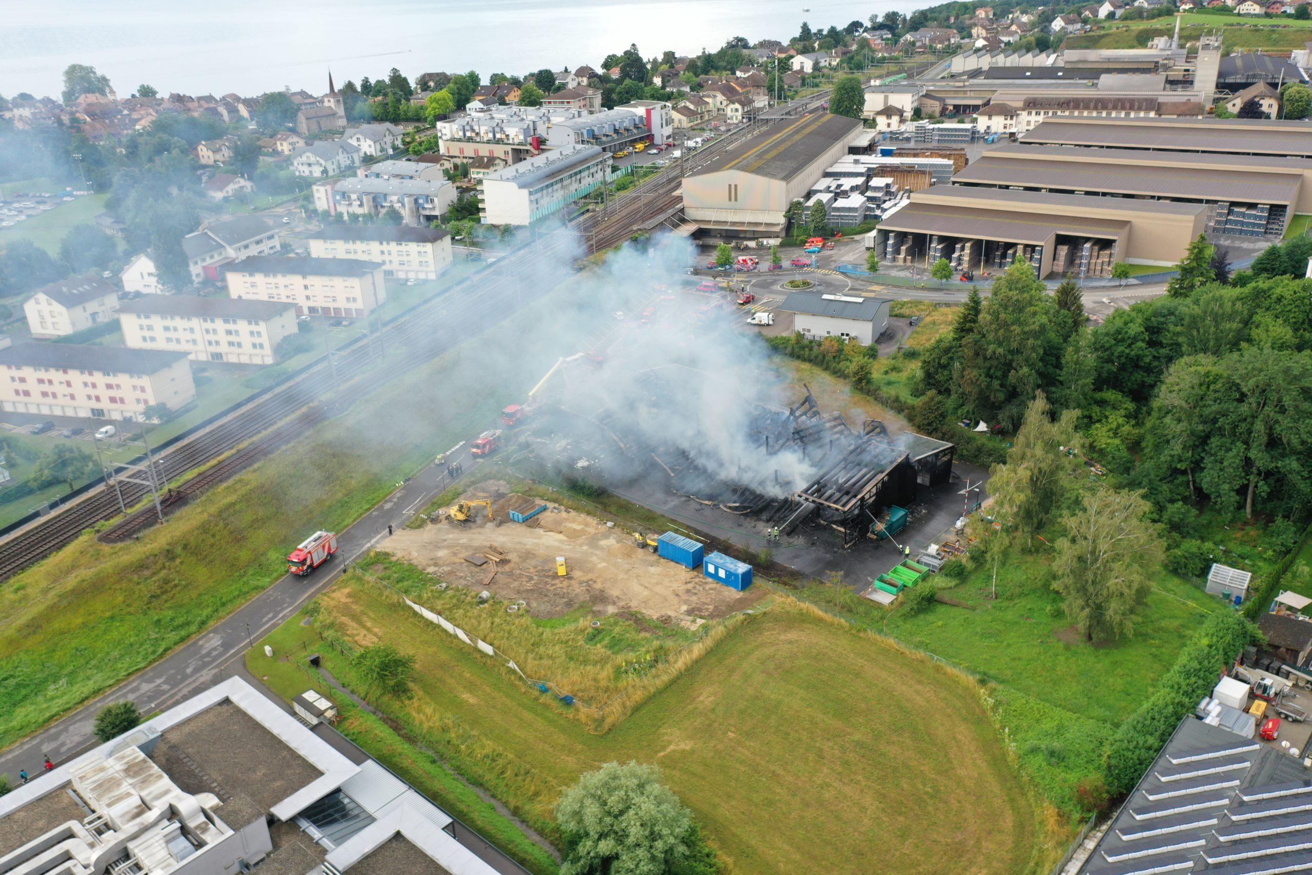 La déchetterie de Saint-Prex part en fumée