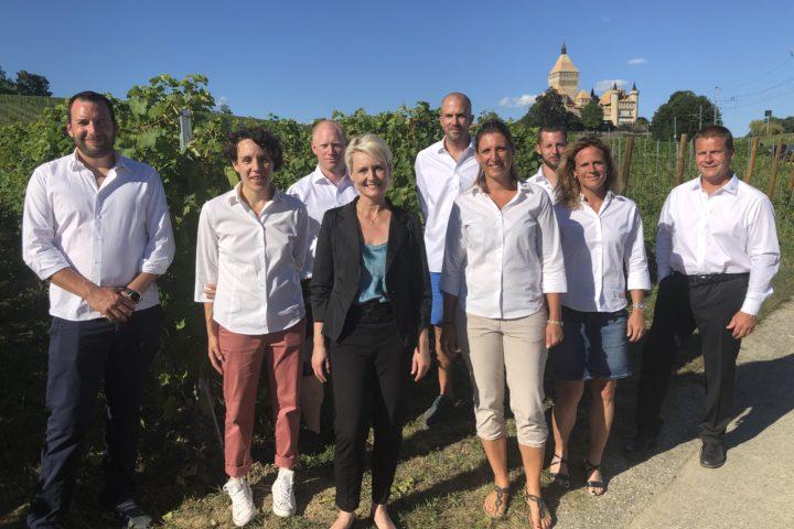 Isabelle Moret parmi les célébrités de la vigne