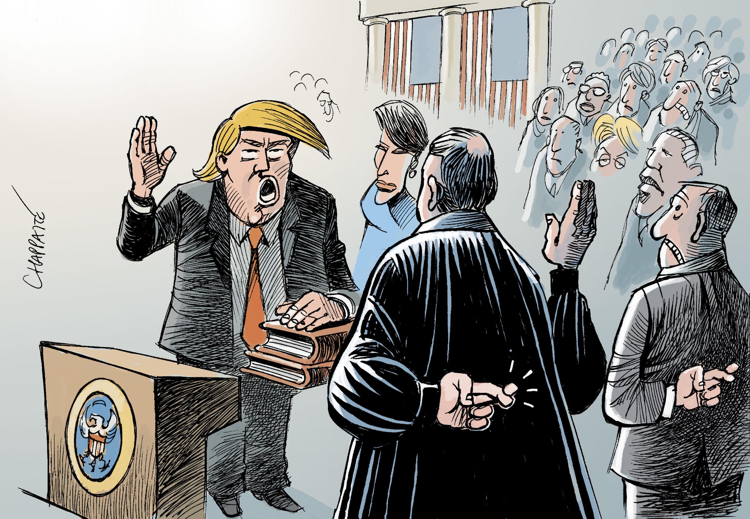 Donald Trump débarque à Morges