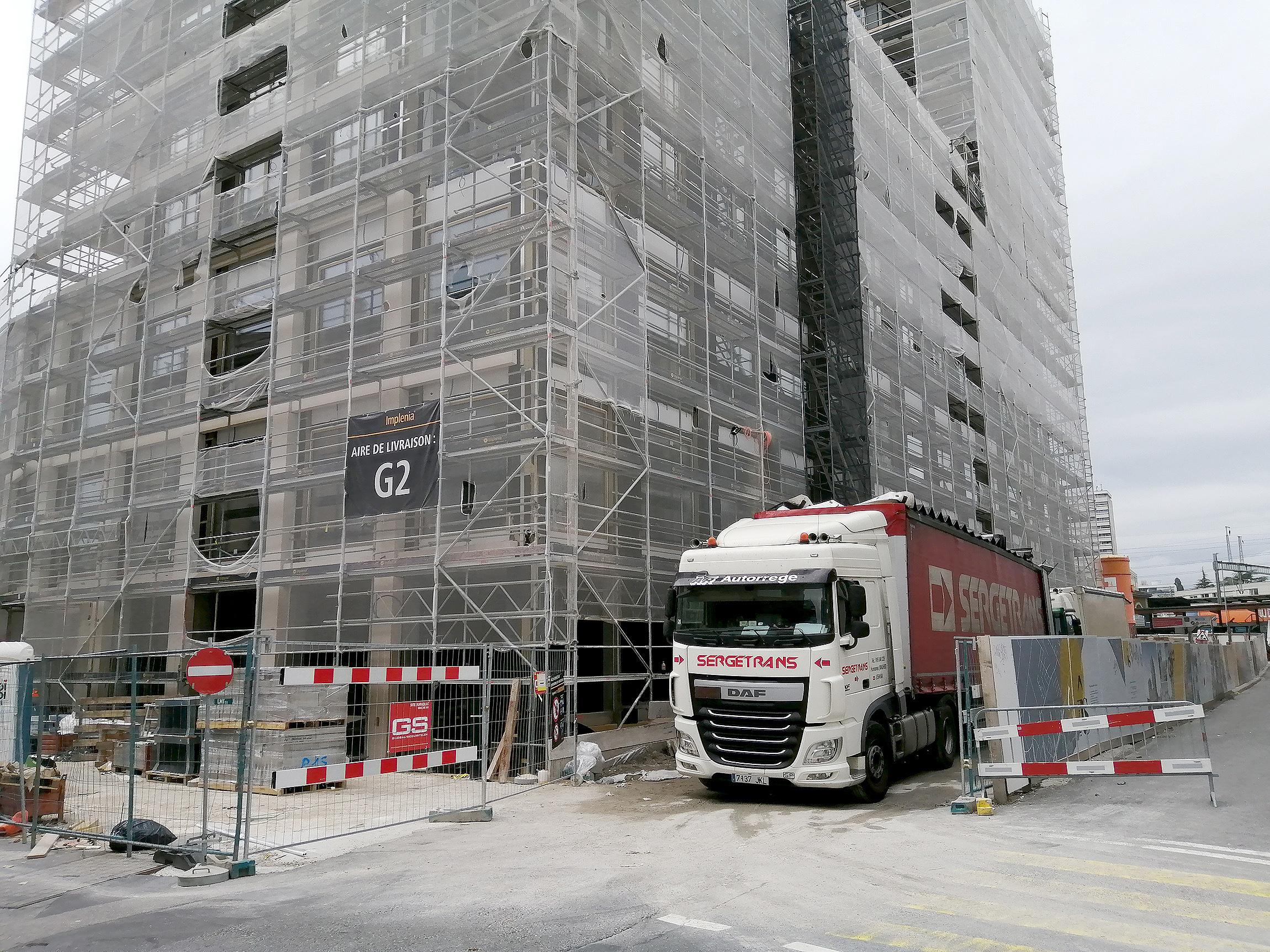 Des camions espagnols font jaser