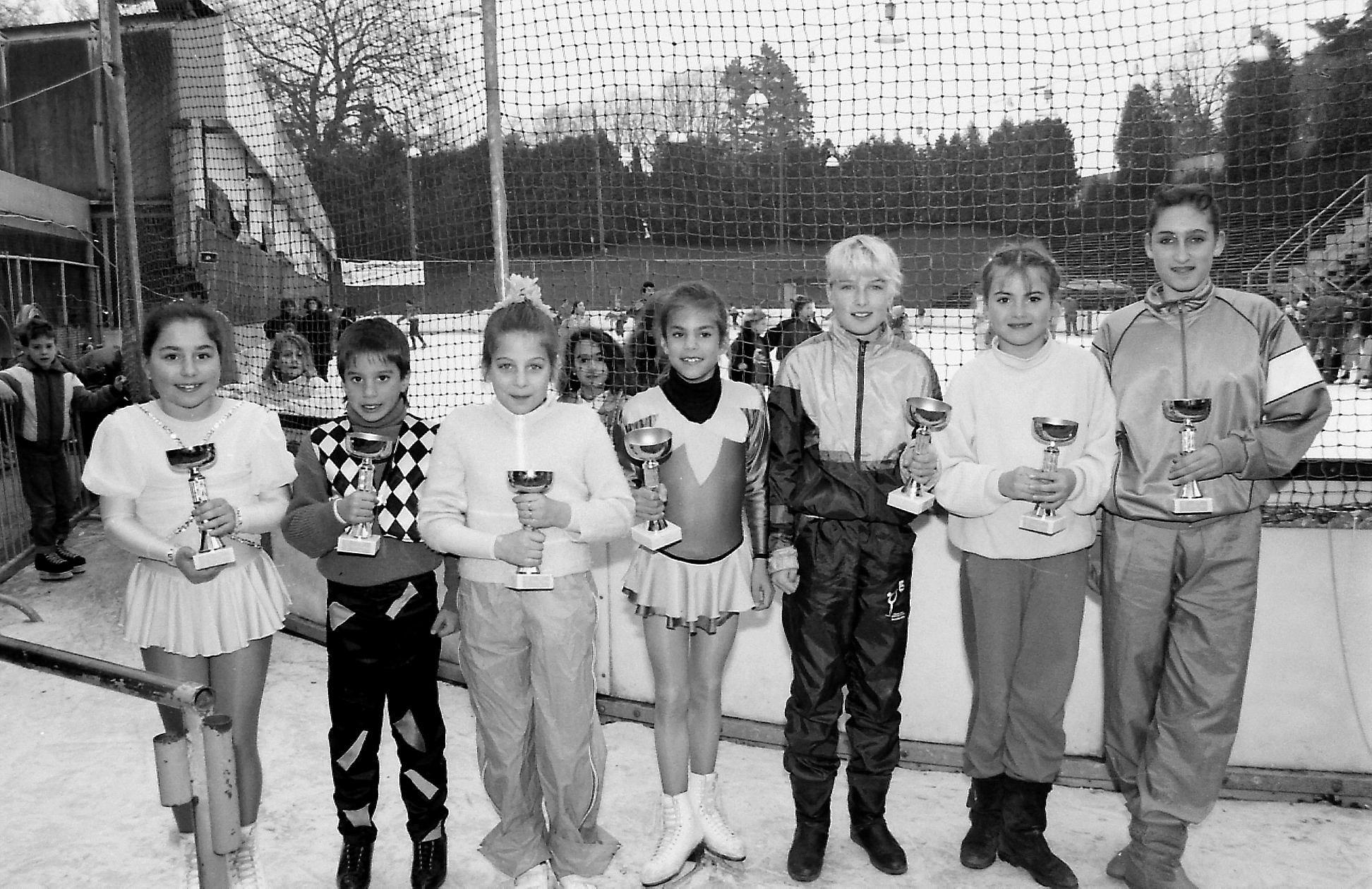 «Un jour, une photo»: de jeunes patineurs en herbe