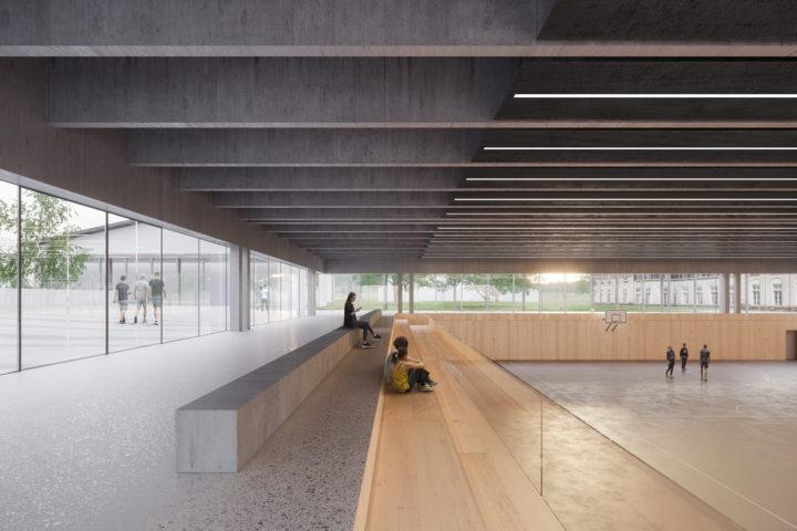 Photomontage de l'intérieur de la nouvelle salle.