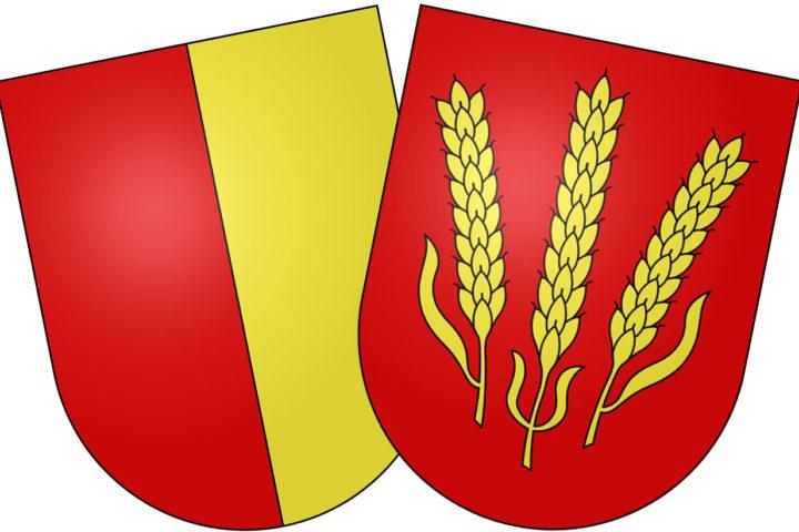 Les blasons des deux communes. Seul restera celui d'Aubonne (à gauche).