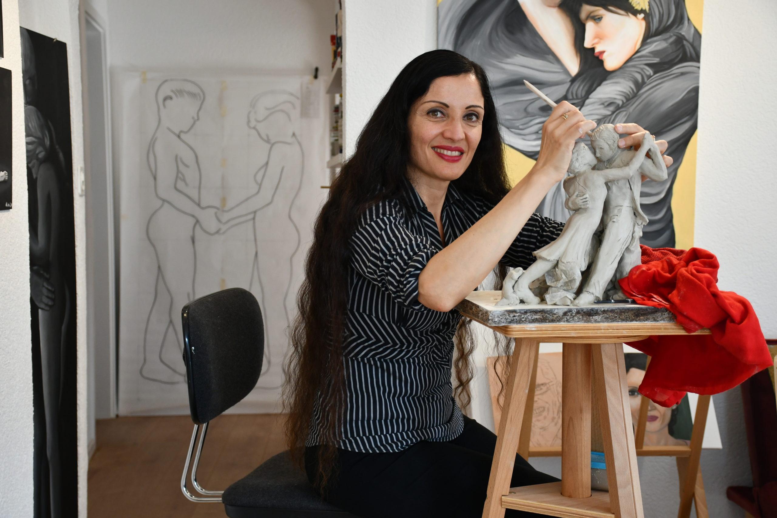 Galerie d'art: Un morceau d'Italie pour le bourg
