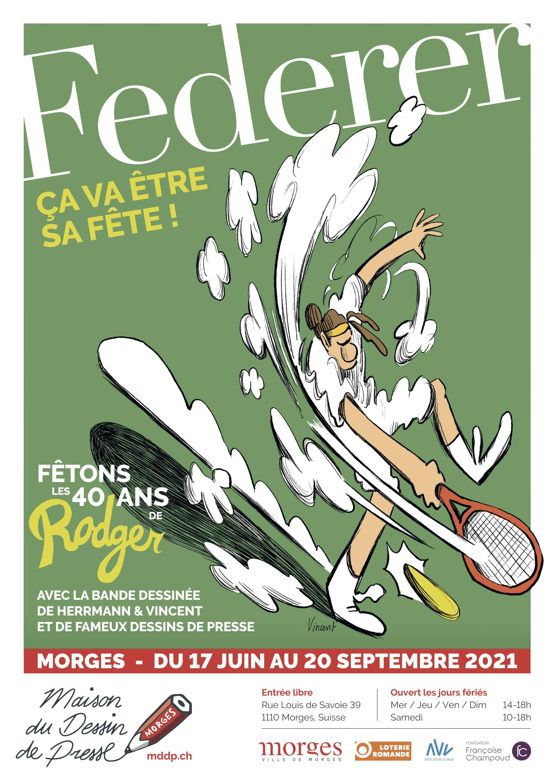 Federer à la Maison du Dessin de Presse