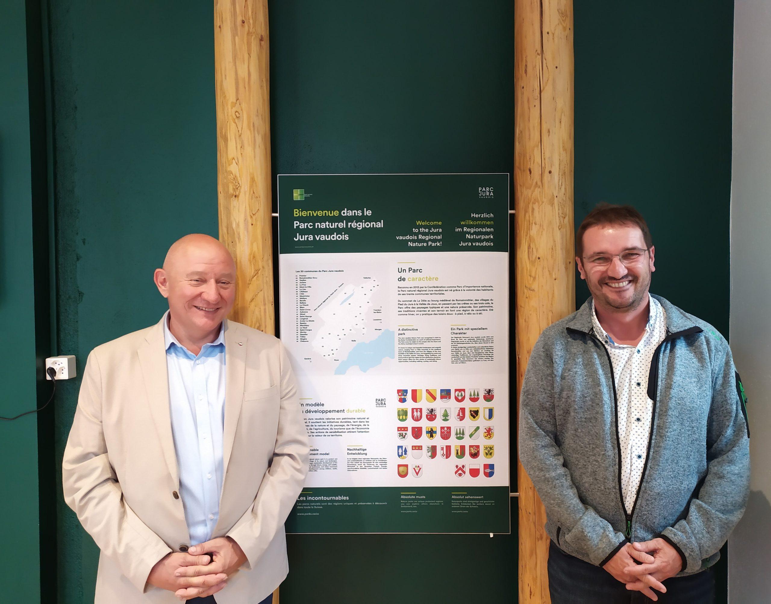 Changements dans l'organisation du Parc naturel régional Jura vaudois