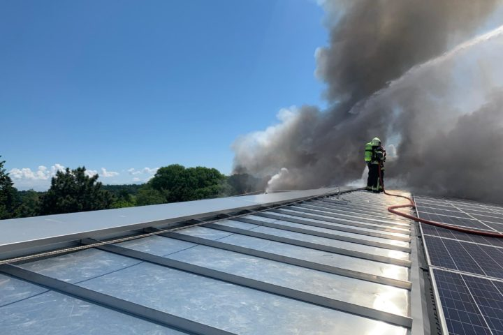 Un incendie important frappe les Casernes de Bière