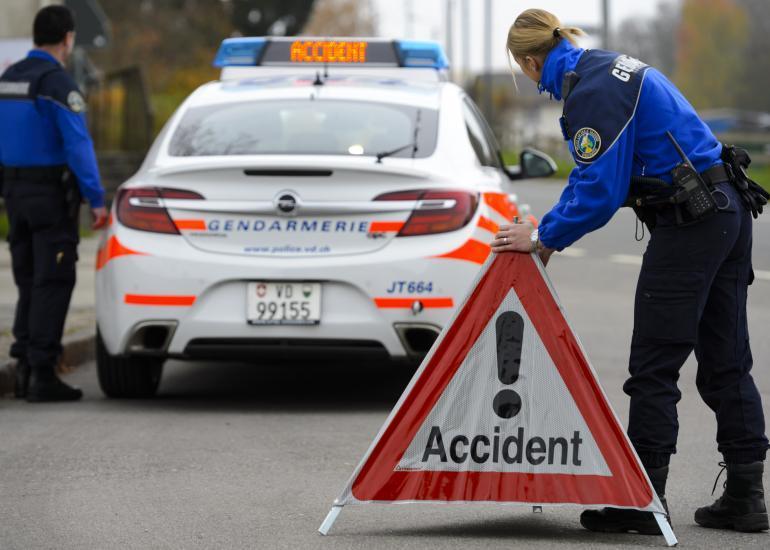 Un accident entre Saint-Prex et Lully