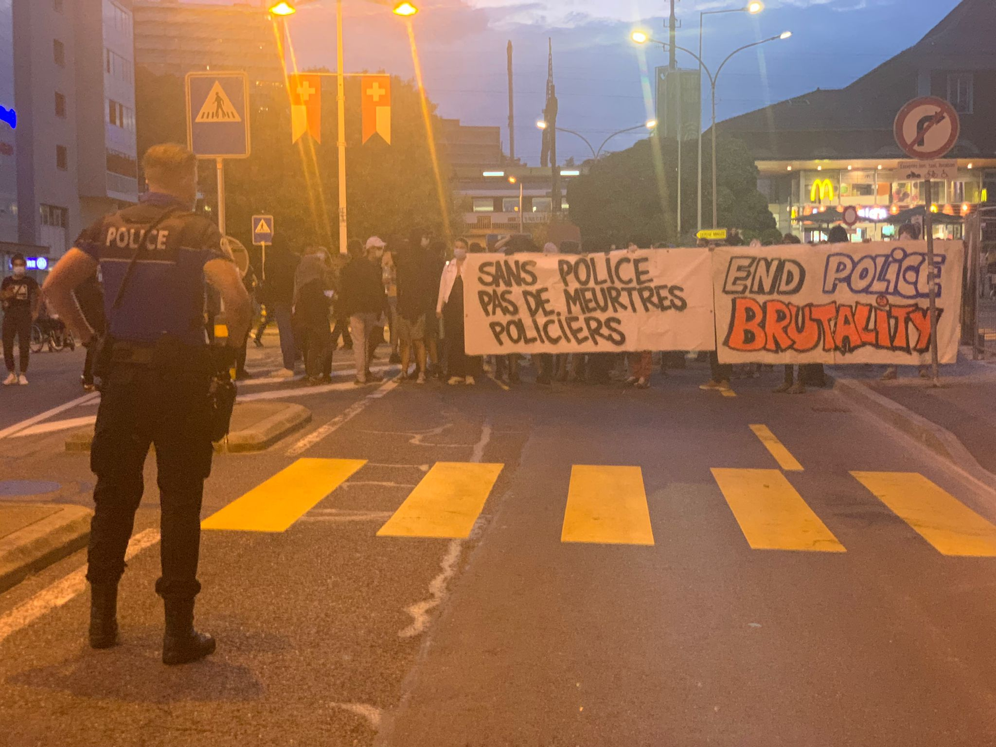Manifestation en gare de Morges
