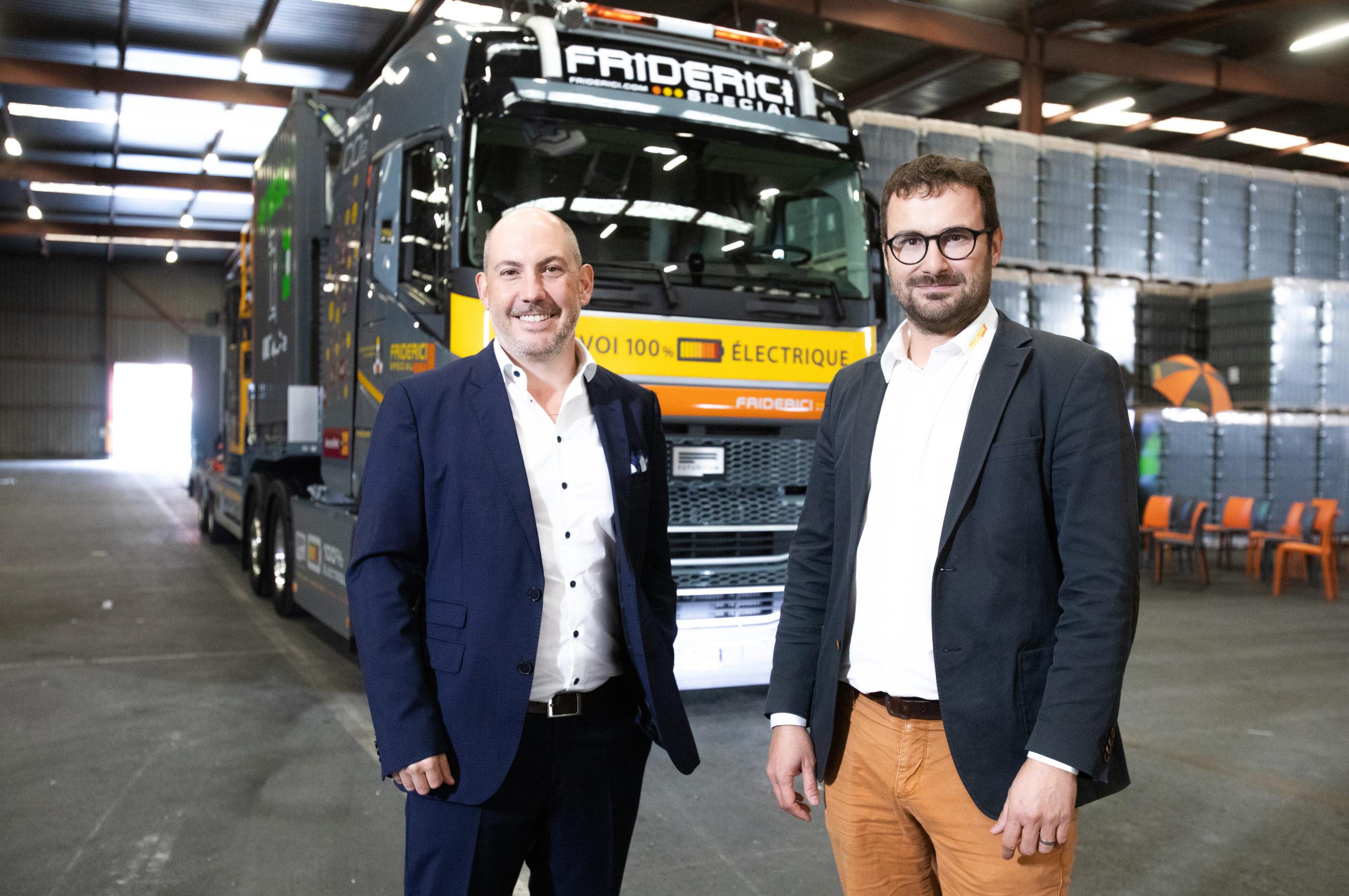 Un camion 100% électrique pour verdir le transporteur Friderici